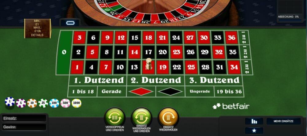 Roulette Satz - 57070