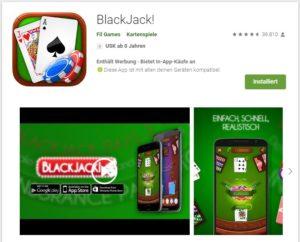 Black Jack Tabelle - 17797