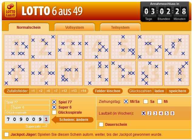 Lotto spielen - 36846